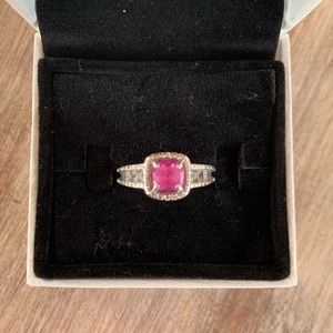 Kay Jewelers pink sapphire ring